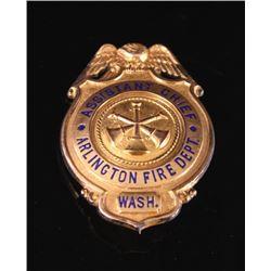 Arlington Fire Dept. Assistant Chiefs Badge Gold