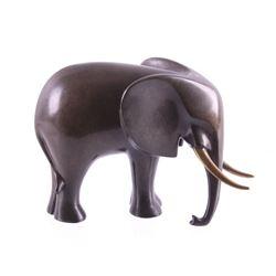 Original Loet Vanderveen Bronze Elephant Sculpture