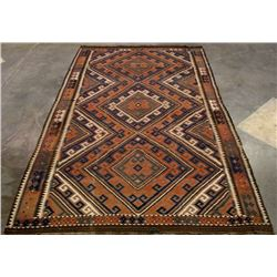 Early Persian Kilim Maimana Rug LARGE