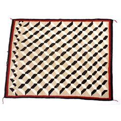 Navajo Klagetoh Geometric Wool Rug c. 1900-