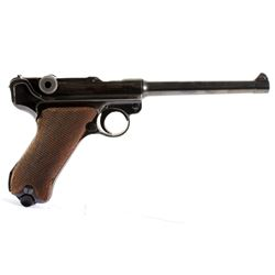 WWII German 9mm Luger with 6 Inch Barrel