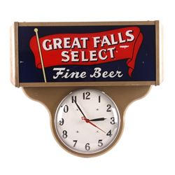 Original Great Falls Select Beer Lighted Clock