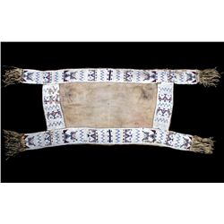 Sioux Fully Beaded Saddle Blanket c. 1850-1880