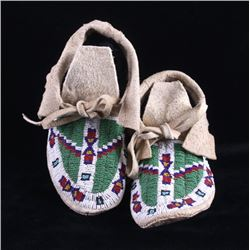Northern Arapaho Fully Beaded Moccasins circa 1900