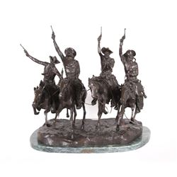 Frederic Remington Coming Through the Rye Bronze