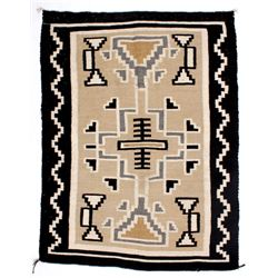 Navajo Two Grey Hills Rug Circa. 1945