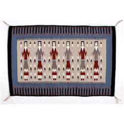 Navajo Native American Yei Fine Wool Rug