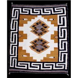 Navajo Two Grey Hills Woven Rug
