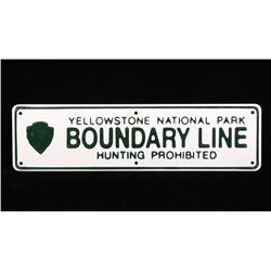 MINT Yellowstone National Park Boundary Line Sign