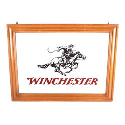 Original Winchester Dealer Advertising Mirror