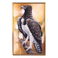 Original Marshall Eagle Oil Painting by Richart