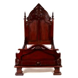 Ornate Victorian Style Twin Bed Frame