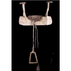 Sioux Beaded Parfleche Horse Saddle c. 1900's