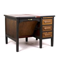 Antique Oak Typewriter Desk