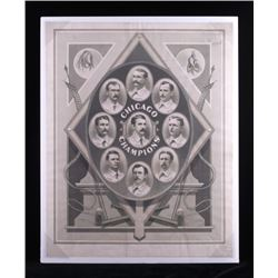 1876-1877 Chicago White Stockings Lithograph