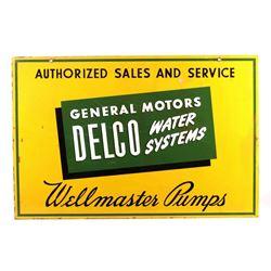 Original General Motors Delco Advertising Sign
