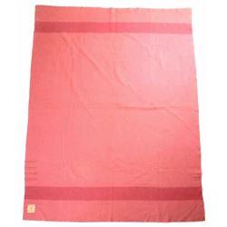 RARE Hudson's Bay Rose Tone 4-Point Wool Blanket