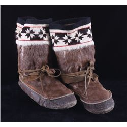 Alaskan Inuit Eskimo Caribou Mukluks