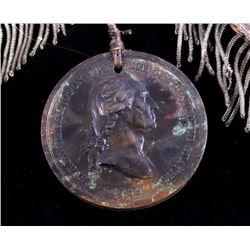 1789 George Washington Indian Peace Medal - Bronze