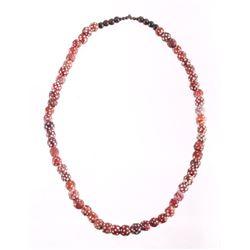 Blackfeet Indian Skunk Medicine Bead Necklace