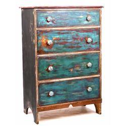 Polychrome Hand Painted Dresser