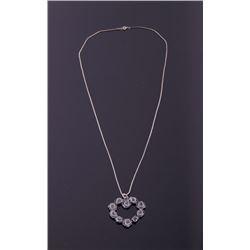 Sand Cast Sterling Silver Rose Necklace
