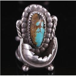 Navajo Kingman Turquoise Silver Ring