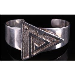Navajo Signed Sterling Silver Bracelet