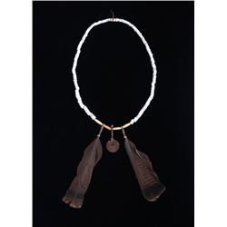 Plains Indian Trade Bead & Coin Necklace 19th C.