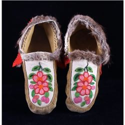 Cree Native American Indian Beaded Moccasins