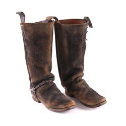 Civil War Era Confederate Cavalry Boots w/ Spurs