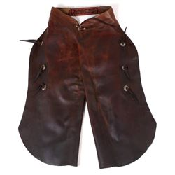 Montana Western Leather Cowboy Batwing Chaps