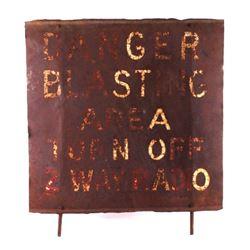 Original Danger Blasting Sign