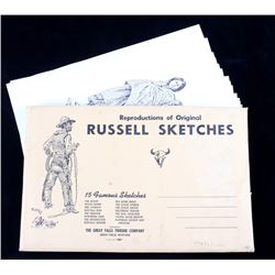 Collection of Charlie Russell Prints Sketches