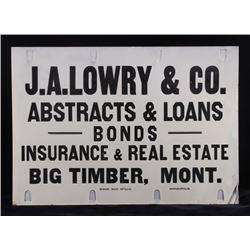 Original Big Timber Montana Advertising Sign