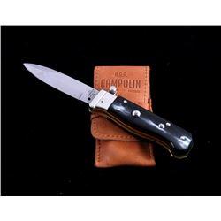 Campolin Buffalo Horn Italian Switchblade Knife