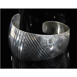 Navajo Sterling Silver Whimsical Bracelet Cuff