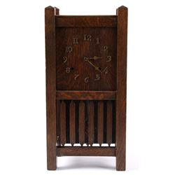 Arthur Pequegnat Oak Mantle Clock