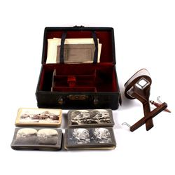 Monarch Stereoview With Cards and Carry Case
