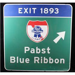 Pabst Blue Ribbon Metal Street Sign
