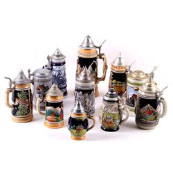 Traditional German Bier Stein Collection