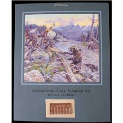 C. M. Russell Goodridge Lumber Co. 1912 Calendar