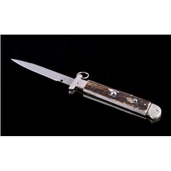 Campolin Italian Ring Pull Stiletto Switchblade