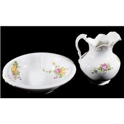 Buffalo Pottery Washbowl and Pitcher Washroom Set