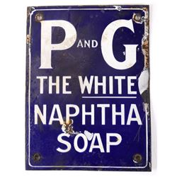 P & G The White Naphtha Soap Porcelain Enamel Sign