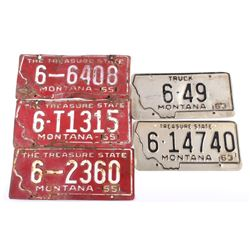 Collection of Montana License Plates