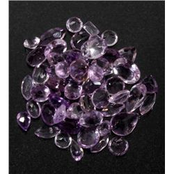 39ct of Unmounted & Faceted Amethyst Gemstones