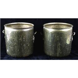 Set of Late 19th Century Large Brass Buckets