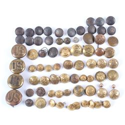 Assorted Military Brass and Iron Uniform Buttons