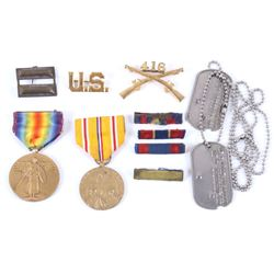 Collection of Assorted Military Pins and Medals